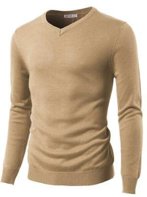 Slim Fit Sweaters V-Neck Sweater