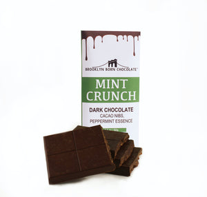 Brooklyn Born Chocolate - Dark Chocolate Mint Crunch - 2.1 oz.
