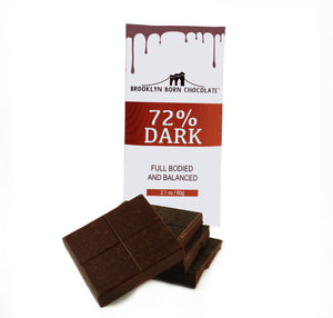 Brooklyn Born Chocolate - 72% Dark Chocolate Bar - 2.1 oz.