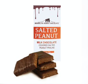 Brooklyn Born Chocolate - Milk Chocolate Covered Salted Peanut Praline - 2.1 oz.