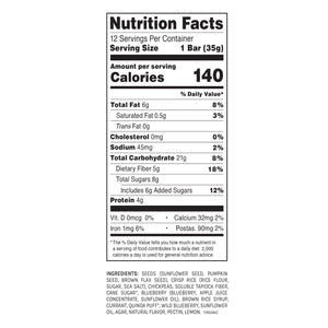 Blake's Seed Based - Seeds And Fruit Blueberry Lemon Snack Bar - 1.23 oz.