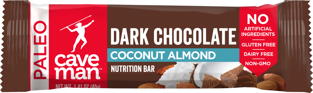 Caveman Paleo Nutrition Bar - Dark Chocolate Coconut Almond - 1.41 oz.