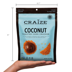 Craize Corn - Coconut Toasted Corn Cracker - 4 oz.
