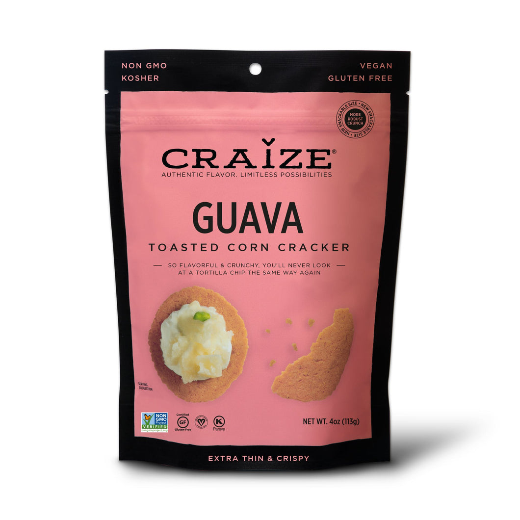 Craize Corn - Guava Toasted Corn Cracker - 4 oz.