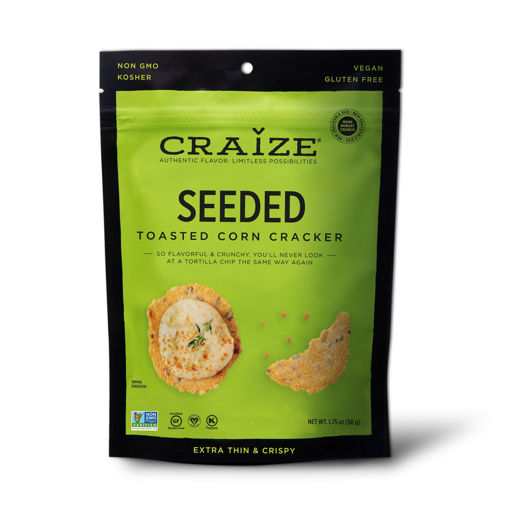 Craize Corn - Seeded Toasted Corn Cracker -1.75 oz.