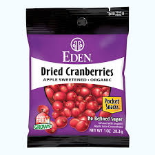 Eden Foods - Organic Dried Cranberries - 1 oz.