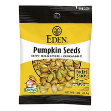 Load image into Gallery viewer, Eden - Dry Roasted Pumpkin Seeds - Pocket Snacks