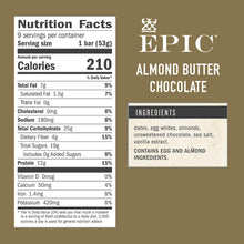 Load image into Gallery viewer, EPIC Performance Bar - Almond Butter Dark Chocolate - 12 G. Protein