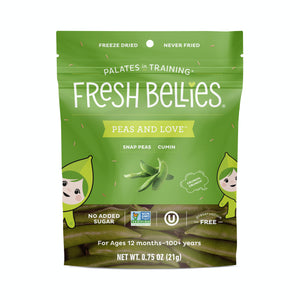 Fresh Bellies - Peas And Love™ - Freeze Dried Snap Peas & Cumin - .75 oz.