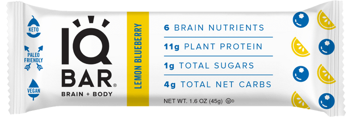 IQ Bar - Lemon Blueberry - 1.6 oz