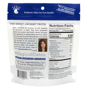 MAGICdATES - 100% Dark Chocolate Covered Blueberry Energy Bites - 3.5 oz.