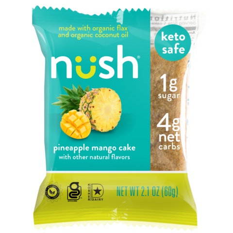 Nush - Pineapple Mango Cake - 2.1 oz.
