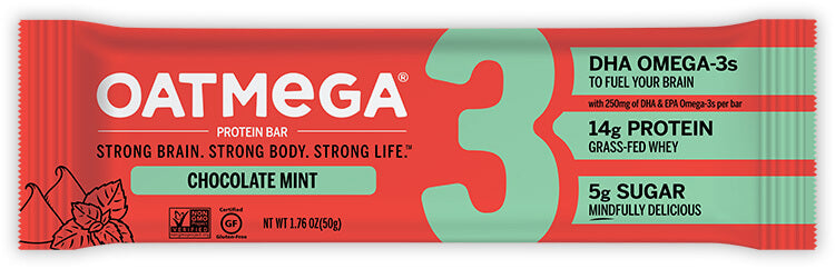 OATMEGA Protein Bar (14 G.) - Chocolate Mint - 1.8 oz