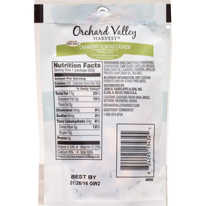 Orchard Valley Harvest - Cranberry Almond Cashew Trail Mix - 1.85 oz