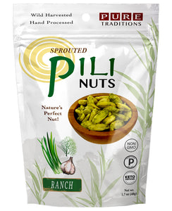 Pure Traditions Foods - Sprouted Pili Nuts - Ranch - 1.7 oz