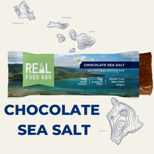 Load image into Gallery viewer, Real Food Bar - Chocolate Sea Salt All Natural Protein Bar - 2.12 oz.