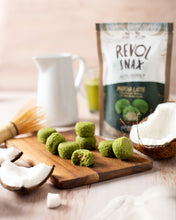 Load image into Gallery viewer, Revol Snax - Matcha Latte Coconut Bites with Vanilla Cream Filling - 3.7 oz.
