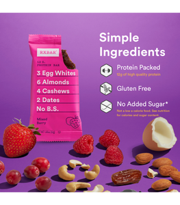 RXBAR - Mixed Berry - 12 G. Protein