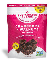 Load image into Gallery viewer, Sustainable Snacks - Cranberry Walnut and Pepitas - 4 oz.