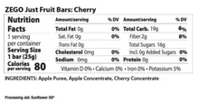 Load image into Gallery viewer, ZEGO Just Fruit Bar - Cherry - .88 oz