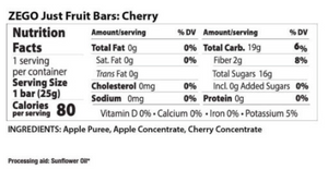 ZEGO Just Fruit Bar - Cherry - .88 oz