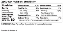 Load image into Gallery viewer, ZEGO Just Fruit Bar - Strawberry - .88 oz