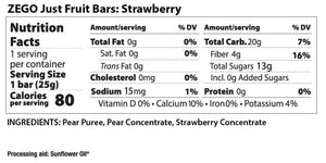 ZEGO Just Fruit Bar - Strawberry - .88 oz