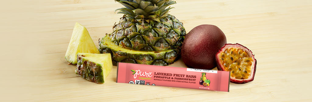 Pure Organic Layered Fruit Bar - Pineapple & Passion Fruit