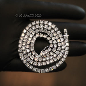 3mm 925 Silver Tennis Chain - JOLLAY.CO