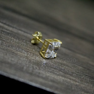 9mm Ascher Cut 925 Silver Earrings - Jollay The Jeweler