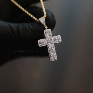 Iced Cross (Yellow Gold) - JOLLAY.CO