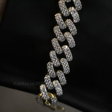 Load image into Gallery viewer, Iced Cuban Chain - Yellow Gold - Prong Set - JOLLAY.CO