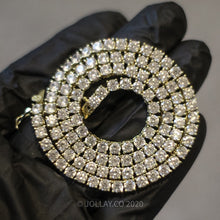 Load image into Gallery viewer, Real 14k/925 Silver 3MM Tennis Chain - JOLLAY.CO