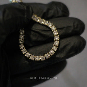 Real 14k/925 Silver 3MM Tennis Chain - JOLLAY.CO