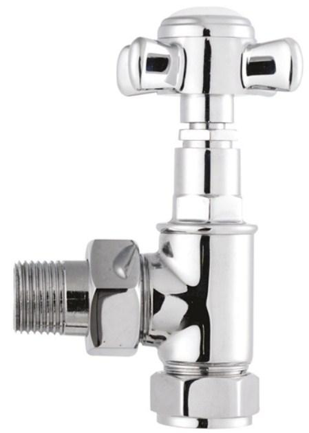 Bayswater Victorian Crosshead Radiator Valves (Pair) - Chrome