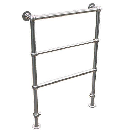 Abacus Elegance ShillIng Traditional Vertical Towel Rail - 950 x 600mm - Chrome