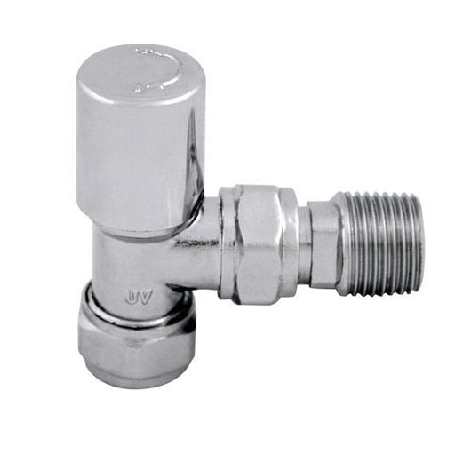 Abacus Ultima Standard Radiator Valve With Wheelhead - Chrome