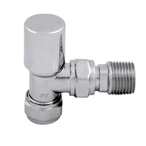 Abacus Ultima Standard Radiator Valve With Lockshield - Chrome