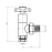 Abacus Ultima Quattro Radiator Valve With Wheelhead-15mm-Chrome