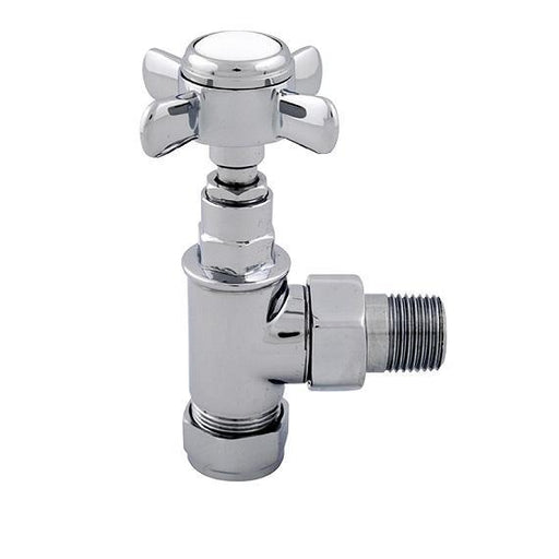 Abacus Ultima Traditional Angled Radiator Valve-15mm-Chrome