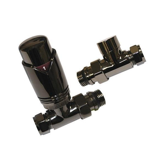 Abacus Ultima Straight Thermostatic Radiator Valve Set-15mm
