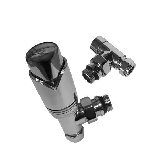 Abacus Ultima Angled Thermostatic Radiator Valve Set-15mm