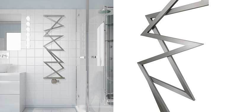 Aeon Zig-Zag M Designer Stainless Steel Towel Rail - 1500 x 500mm