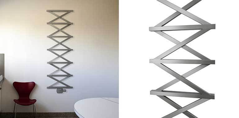 Aeon Zig-Zag T Designer Stainless Steel Towel Rail - 1500 x 500mm