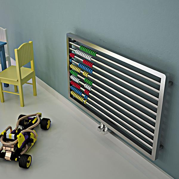Carisa Abako Horizontal Designer Radiator - 600mm x 1000mm - Satin Polished