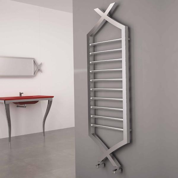 Carisa Clasico Vertical Designer Radiator - 1490mm x 500mm - Satin Polished