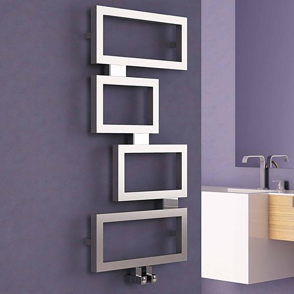 Carisa Clash Vertical Designer Radiator - 920mm x 450mm - Satin Polished