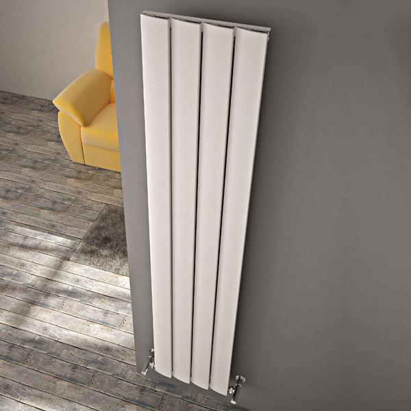 Carisa Step Vertical Designer Radiator - Textured White