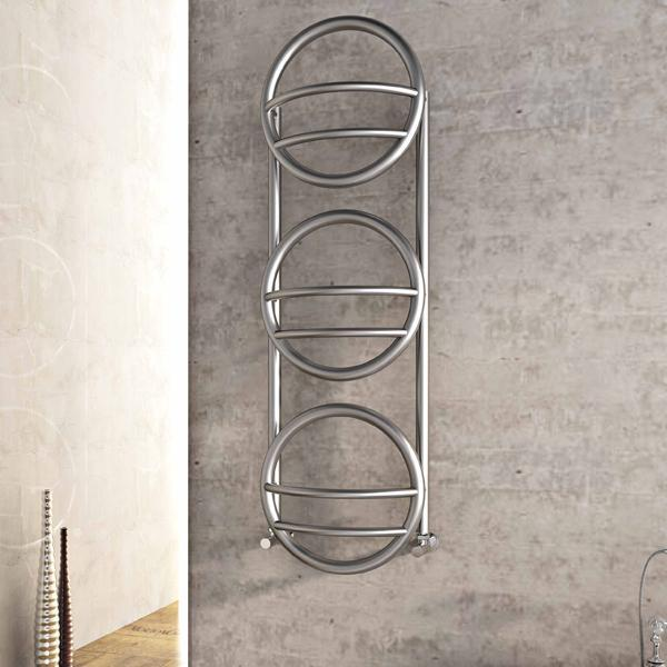 Carisa Environ Vertical Designer Radiator - 850mm x 400mm - Satin Polished