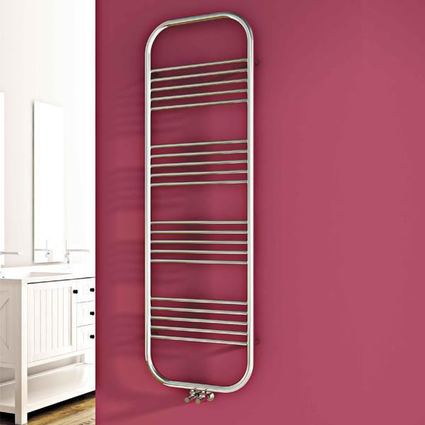 Carisa Electra Vertical Designer Towel Rail - Chrome